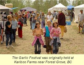 garlicfestival.ca - The first Festival held at Forest Grove, BC